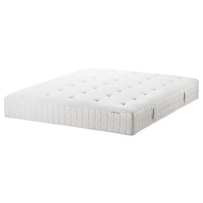HYLLESTAD Colchón de muelles embolsados, firme/blanco, 135x190 cm