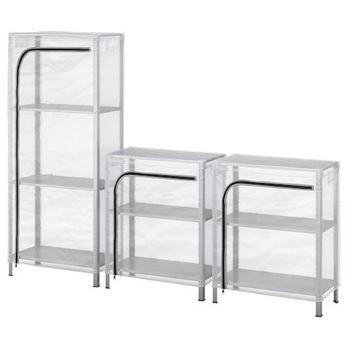 IKEA HYLLIS Estanterías con fundas