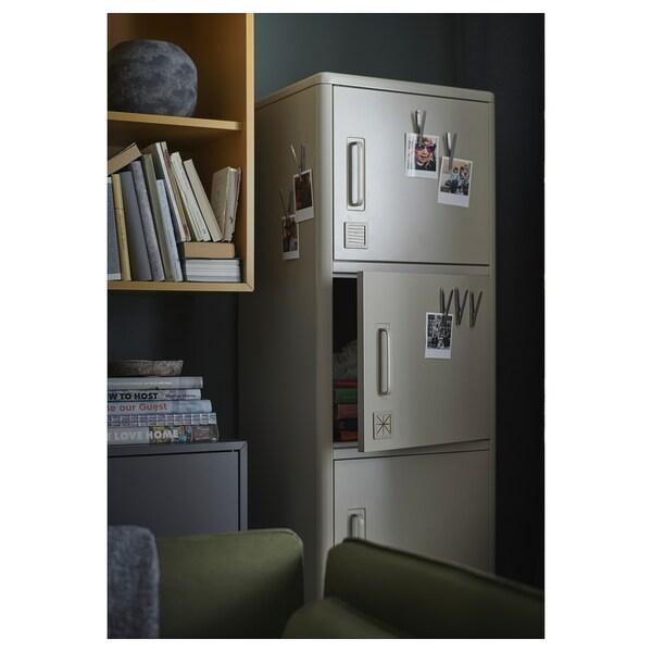 IDÅSEN Armario alto+ puerta +cajón, beige, 45x172 cm