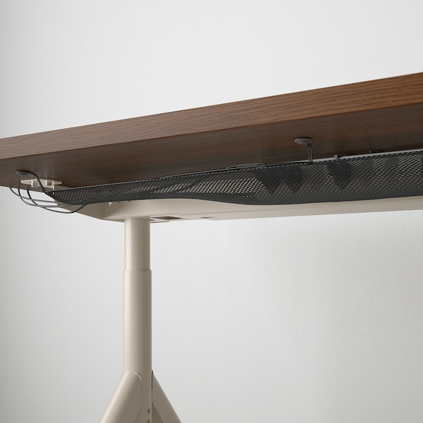 IDÅSEN Escritorio, marrón/beige, 160x80 cm