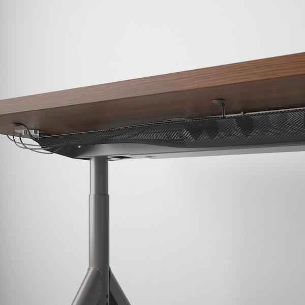 IDÅSEN Escritorio, marrón/gris oscuro, 120x70 cm