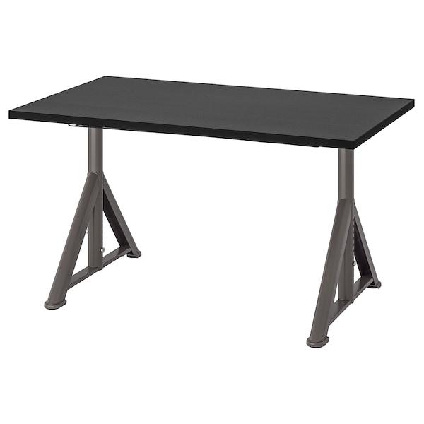 IDÅSEN Escritorio, negro/gris oscuro, 120x70 cm