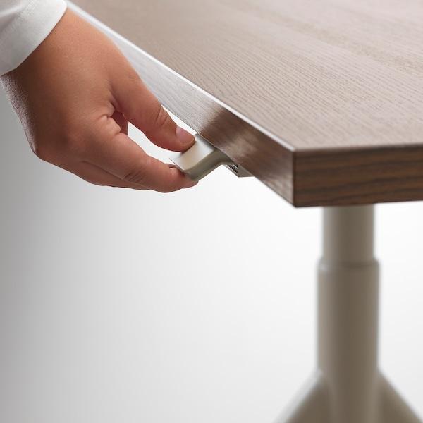 IDÅSEN Escritorio sentado/de pie, marrón/beige, 120x70 cm
