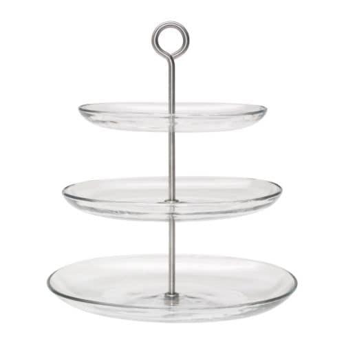 IKEA 365+ Frutero, 3 pisos, vidrio incoloro, ac inox longitud: 31 cm Ancho: 27 cm Altura: 34 cm