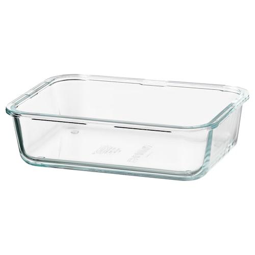 IKEA 365+ recipiente rectangular /vidrio 21 cm 15 cm 6 cm 1.0 l