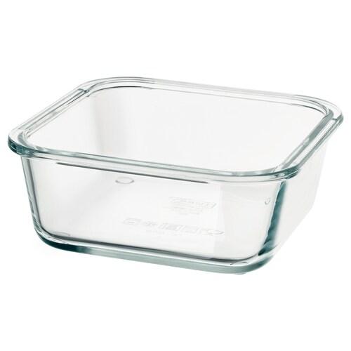 IKEA 365+ recipiente cuadrado/vidrio 15 cm 15 cm 6 cm 600 ml