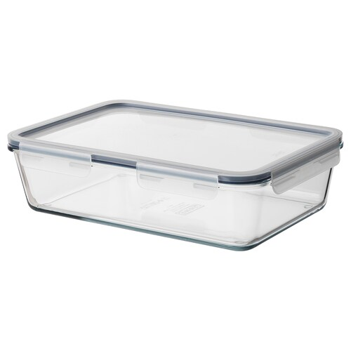 IKEA 365+ bote con tapa rectangular /vidrio plástico 32 cm 21 cm 9 cm 3.1 l