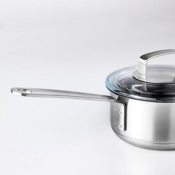 IKEA 365+ cacerola con tapa ac inox/vidrio 8 cm 1 l