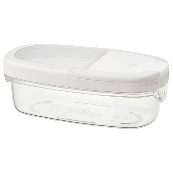 IKEA 365+ Bote c/tapa, transparente/blanco, 0.3 l