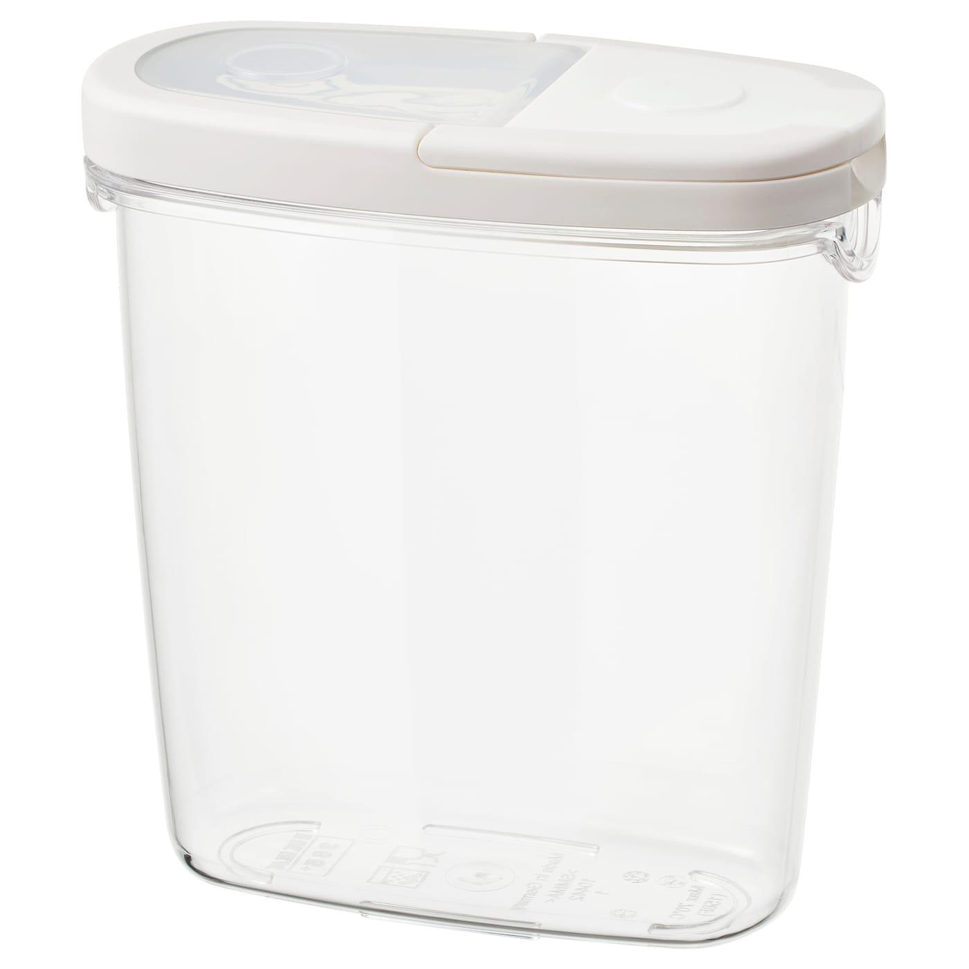 IKEA 365+ Bote ctapa transparenteblanco 1.3 l