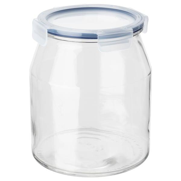 IKEA 365+ Bote con tapa, vidrio/plástico, 3.3 l