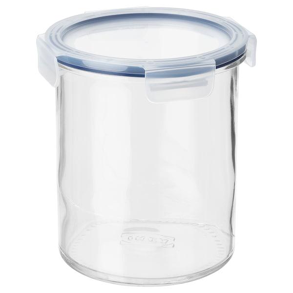 IKEA 365+ Bote con tapa, vidrio/plástico, 1.7 l