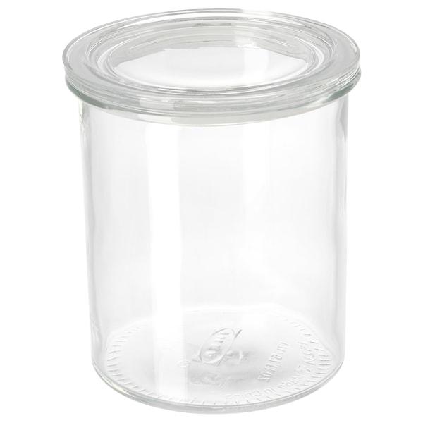 IKEA 365+ Bote con tapa, vidrio, 1.7 l
