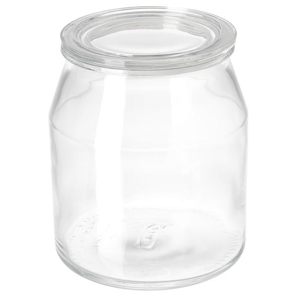 IKEA 365+ Bote con tapa, vidrio, 3.3 l