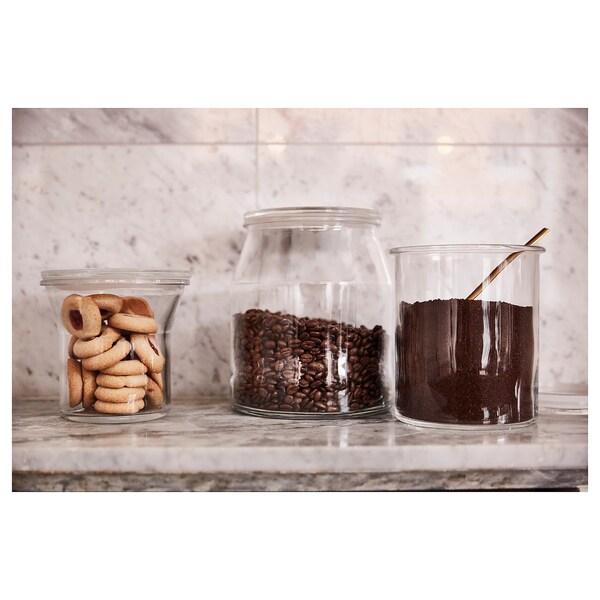 IKEA 365+ Bote, redondo/vidrio, 3.3 l