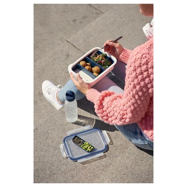 IKEA 365+ Fiambrera con accesorios, rectangular, 1.0 l