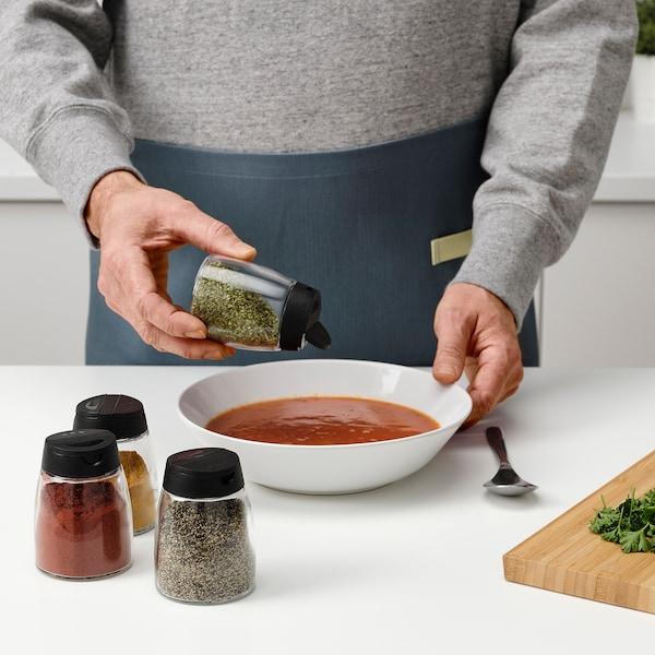 IKEA 365+ IHÄRDIG Tarro para especias, vidrio/negro, 15 cl