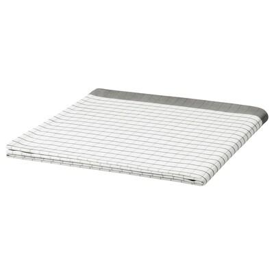IKEA 365+ Mantel, blanco/gris, 145x145 cm