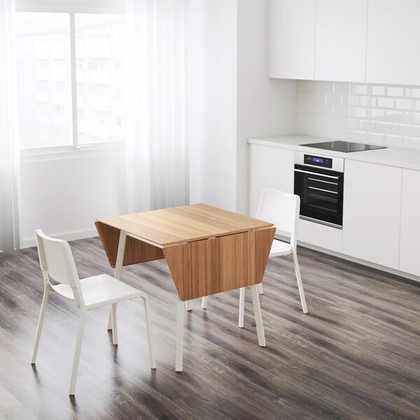 IKEA PS 2012 / TEODORES Mesa y dos sillas, bambú blanco/blanco