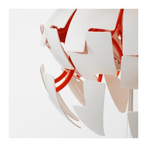 Ikea ps 2014 l mpara de techo blanco naranja ikea for Lampara globo ikea