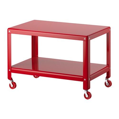 Ikea ps 2012 mesa de centro rojo ikea for Mesa tv con ruedas ikea