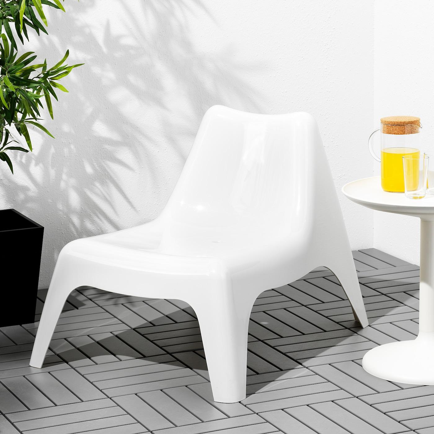 IKEA PS VÅGÖ Silla jardín blanco