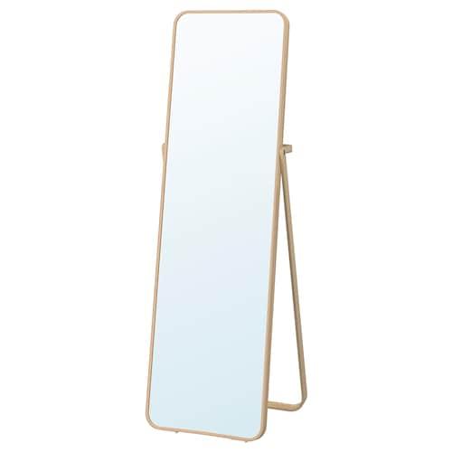IKORNNES espejo de pie fresno 52 cm 167 cm 52 cm