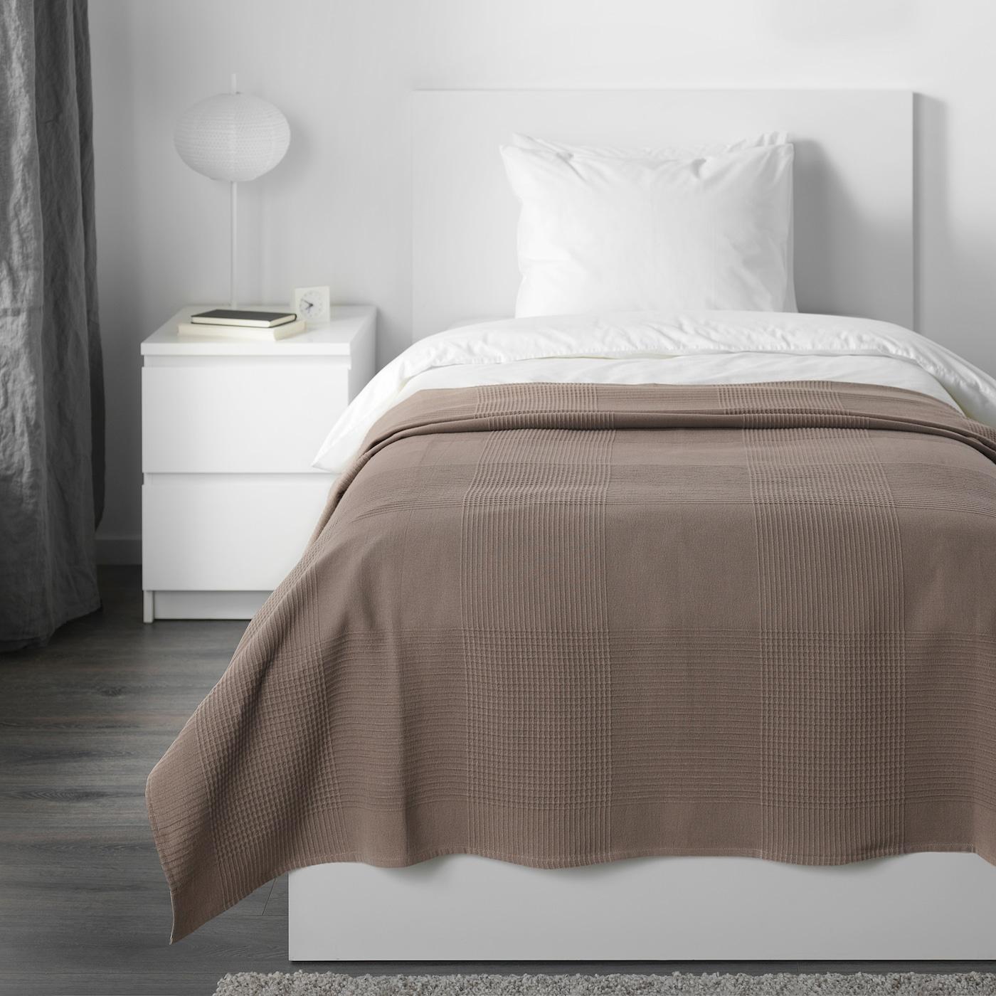 INDIRA Colcha, marrón claro, 150x250 cm IKEA