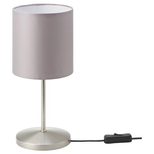 INGARED lámpara de mesa gris 30 cm 13 cm 1.5 m