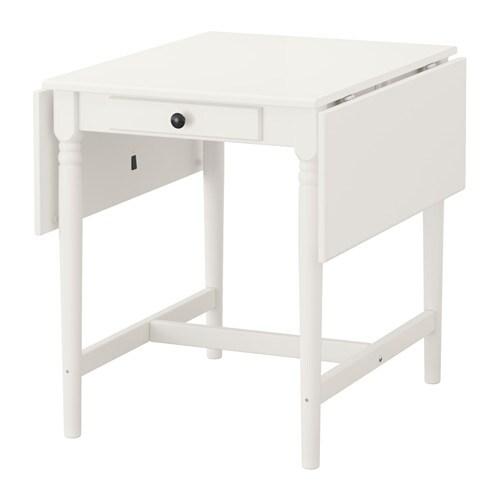 INGATORP Mesa de hojas abatibles Blanco 65/123 x 78 cm - IKEA