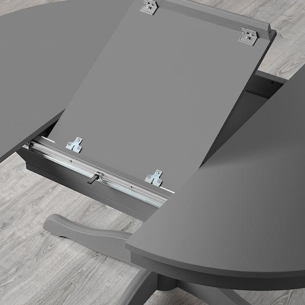 INGATORP Mesa extensible, gris, 110/155 cm