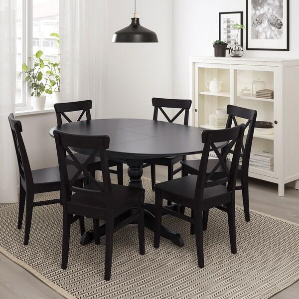 ikea mesa redonda con sillas de colores