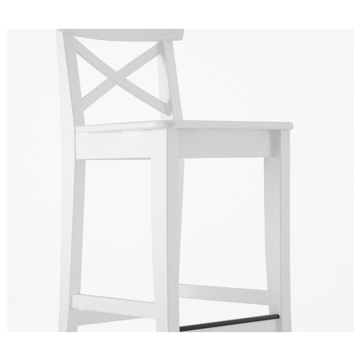 INGOLF Taburete alto Blanco 74 cm - IKEA