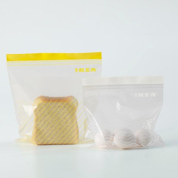 ISTAD Bolsa reutilizable cierre, amarillo/blanco