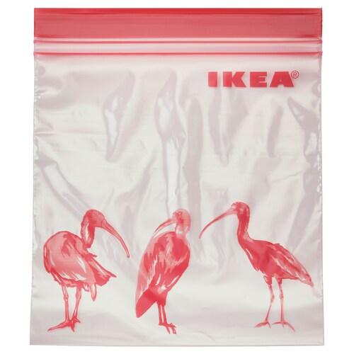 ISTAD bolsa reutilizable cierre con motivos/rosa 1 l 25 unidades