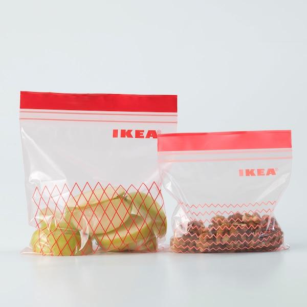 ISTAD bolsa reutilizable cierre rojo 60 unidades