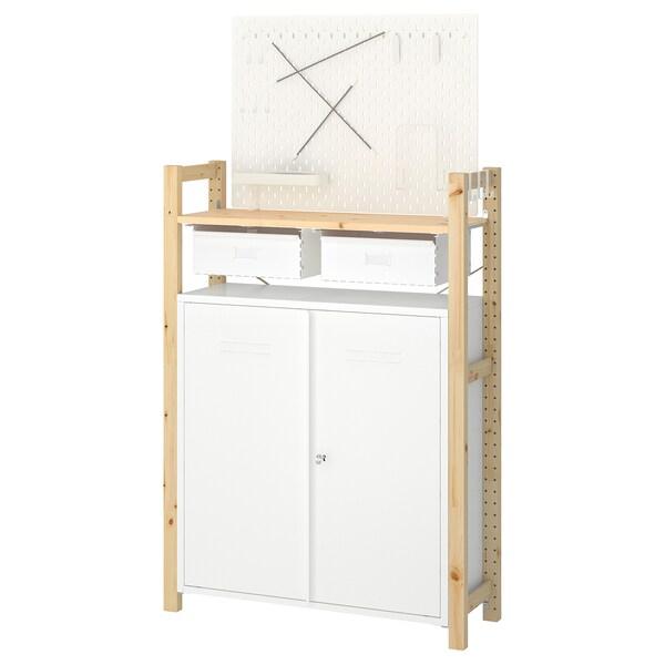 IVAR 1 secciónbaldasarmario pino blanco 89x30x124 cm