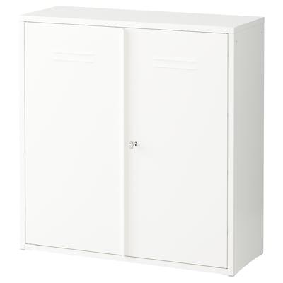 IVAR Armario con puertas, blanco, 80x83 cm