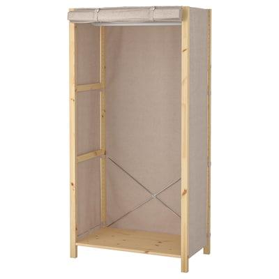IVAR Estantería baldas riel funda, 89x50x179 cm