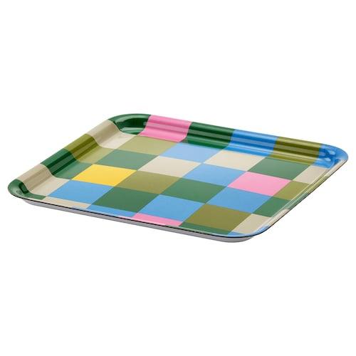 JÄMNGOD bandeja colores variados 33 cm 33 cm