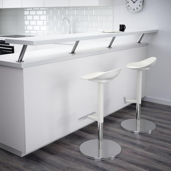 JANINGE Taburete alto, blanco, 76 cm