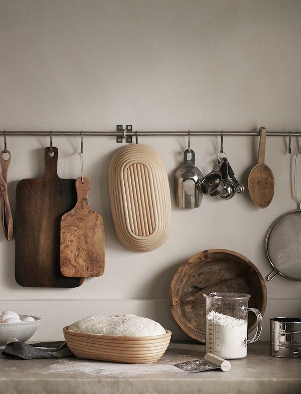 JÄSNING Cesta fermentación/panera, 30x17 cm