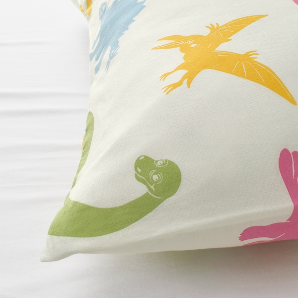 JÄTTELIK Funda nórdica +funda almohada, dinosaurio/multicolor, 150x200/50x60 cm
