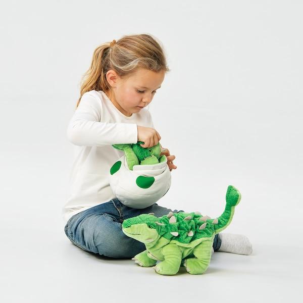 JÄTTELIK Peluche, huevo/dinosaurio/dinosaurio/anquilosauro, 37 cm