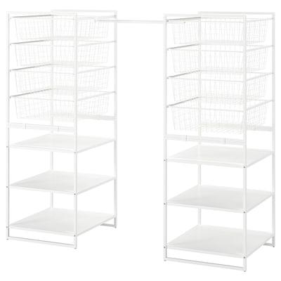 JONAXEL Estructura+cesto rejilla+barras, blanco, 142-178x51x139 cm