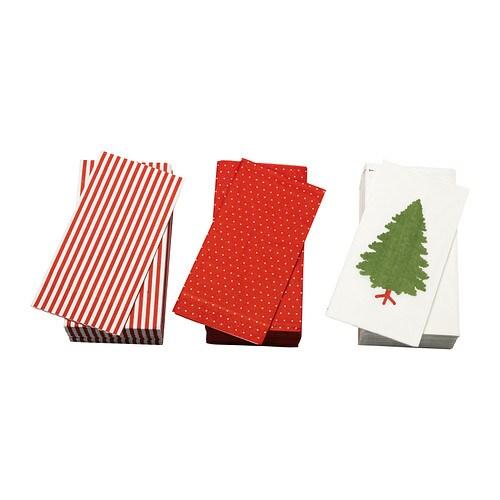 JULFINT Servilleta de papel IKEA La servilleta tiene una gran capacidad de absorción gracias a las 3 capas de papel.