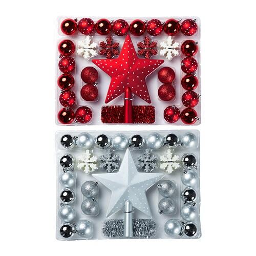 JULMYS Adorno colgante, 58 piezas IKEA Resistente. No se rompe si se cae al suelo.