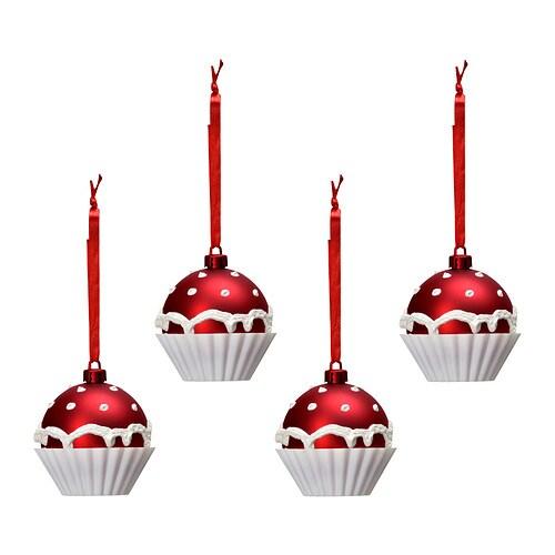 JULMYS Decorac bola IKEA Resistente. No se rompe si cae al suelo. Con cinta para colgar. Facilita la decoración.