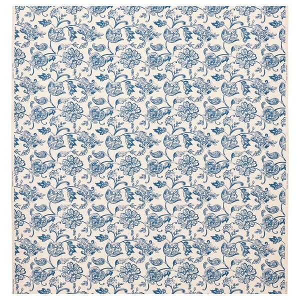 JUNIMAGNOLIA Tela por metros, natural/azul, 150 cm