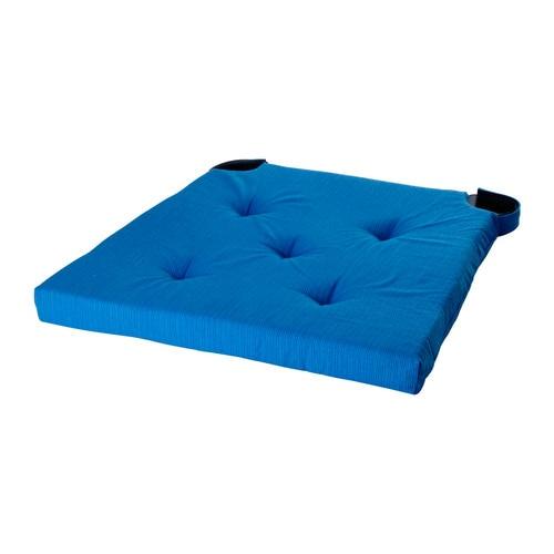 Justina coj n para silla azul ikea for Cojin para sillas